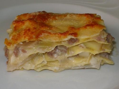 lasagne porri e salsiccia