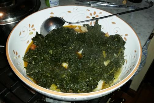 zuppa cavoletti e baccalà